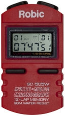Robic SC-505W 12 Memory Stopwatch-Red