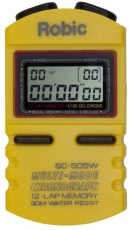 Robic SC-505W 12 Memory Stopwatch-Yellow