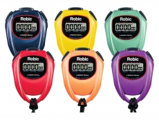 SC-429 Water Resistant 2 Memory Stopwatch-6 Color Assortment