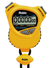 Robic 1000W Dual Stopwatch/Countdown Timer- Yellow